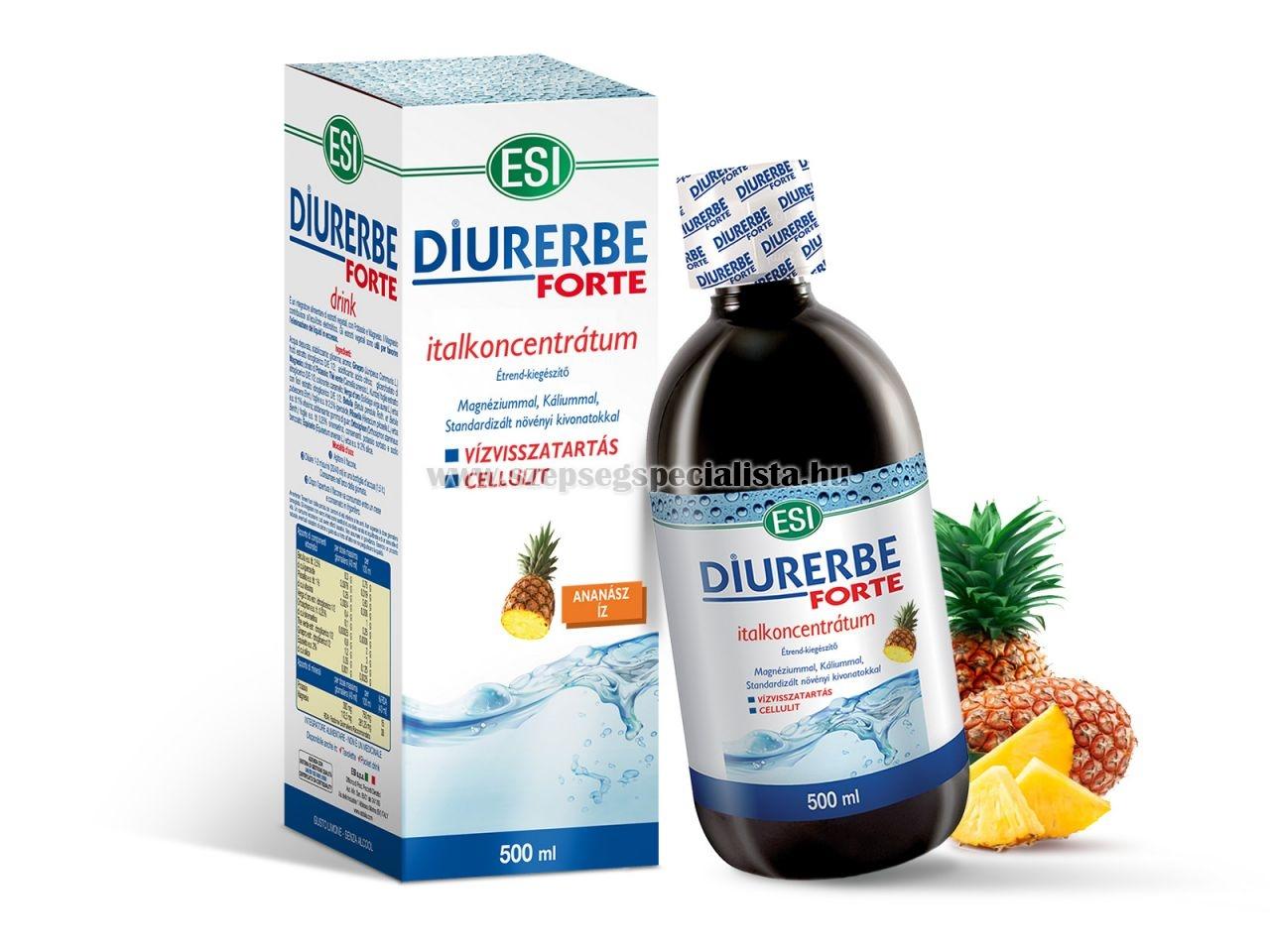 ESI Diurerbe Forte italkoncentrátum ananász íz 500ml